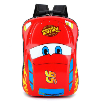 Hely TOP ABS Kids Baby Boy Schoolbag Waterproof Cute Cartoon Animal Eggshell Backpack(Cars) - Intl Price Philippines