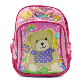 HAPPY KIDS Trendy Kids Girls Backpack Outdoor Bag (Happy Bear Design) Price Philippines