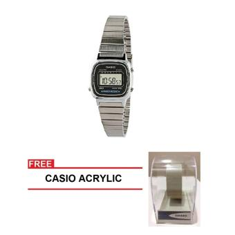 Casio Standard Series Women Silver Stainless Steel StrapWatch LA670WA-1DF (FREE CASIO ACRYLIC) Price Philippines