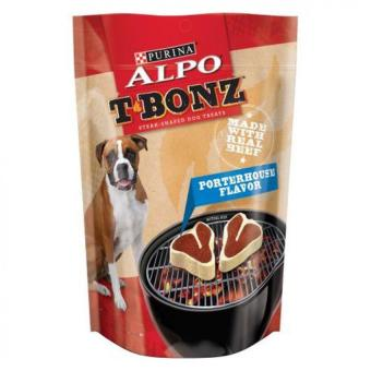 Harga Purina Alpo T-Bonz Porterhouse Flavor Dog Treats Soft Chewy Steak 128g