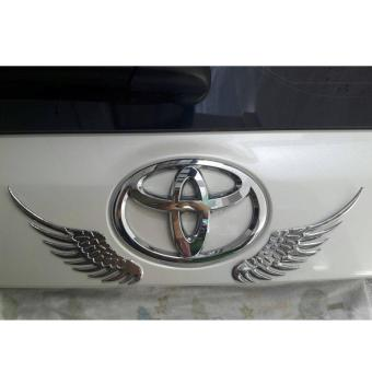 3D Alloy Metal Silver Angel Wings Car Emblem Badge for Cars and Motors Price Philippines