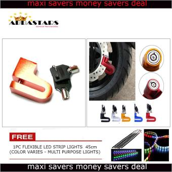 Harga Motorcycle / Bike Anti - Theft Disk Brake LOck Waterproof Wheel Orange RotorLock Cylinder for for Yamaha Vega Force i