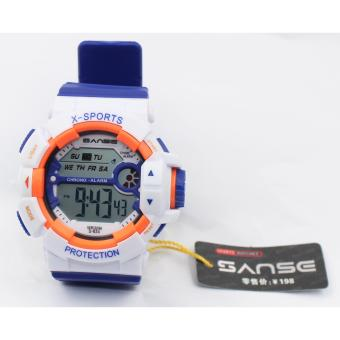 Sanse Water Resistant Uni-sex Watch TPU resin Strap-634 White / Blue Price Philippines