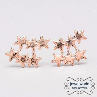 Harga Jewelworld 3 Stars Bangkok Plated Earrings (gold)