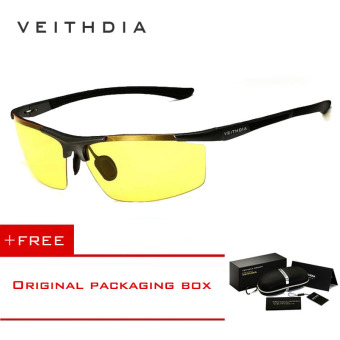 VEITHDIA Aluminum Magnesium Sunglasses Polarized Sports Mens Coating Male Eyewear Accessories 6588 (Yellow) [ Buy 1 Get 1 Freebie ] Price Philippines
