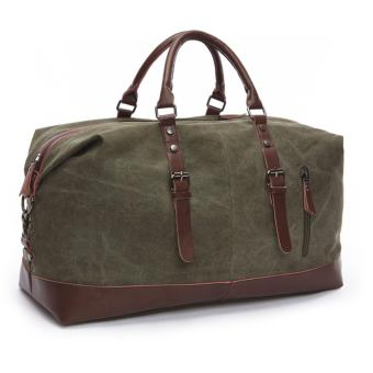 Elite Canvas Travel Bag / Duffle Bag / Weekend Bag/ Travel Totes- Moss Green (L) Price Philippines