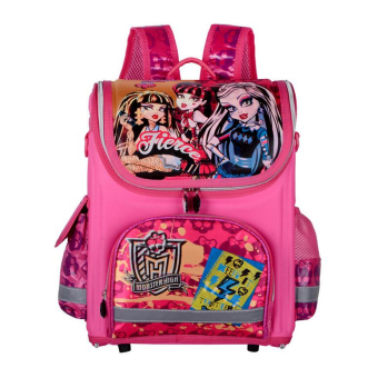 Hely TOP Kids Girls Cartoon Schoolbag High Quality Primary School Pupils Backpack (Pink) - Intl Price Philippines