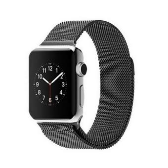 Harga GAKTAI Replacement Milanese Magnetic Loop Stainless Steel Strap Watch Bands For Apple Watch iWatch 42MM - Black - intl