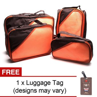 Le Organize 4-in-1 Luggage Organizer with Free Luggage Tag (Brown) Price Philippines