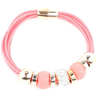 Athena & Co. Chelsea Leather Bracelet (Pink) Price Philippines