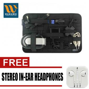 Grid It Travel Organizer (Black) with free Stereo In-Ear Headphone (White) Price Philippines