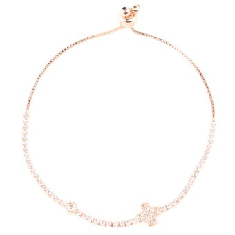 Athena & Co. Cross Toggle Bracelet (Rose Gold) Price Philippines