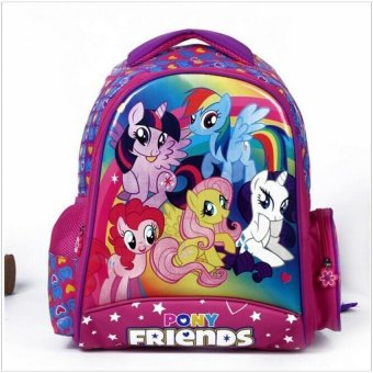 2017 New kids cartoon my little pony schoolbag girls lovelyBackpack Schoolbag For Kids Children Christmas Gift Bags - intl Price Philippines