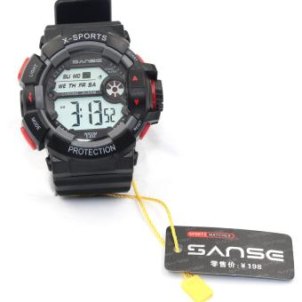 Sanse Water Resistant Uni-sex Watch TPU resin Strap-634 Black Price Philippines