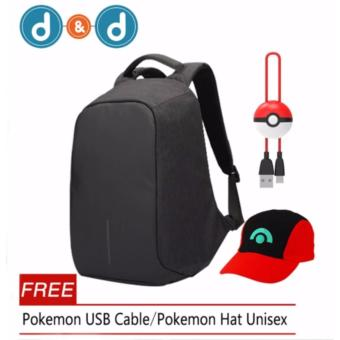 Anti-Theft Backpack With Free Pokemon USB Cable/Pokemon Hat Unisex Price Philippines