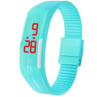 Unisex Silicone Bracelet LED Watch (Cyan) Price Philippines