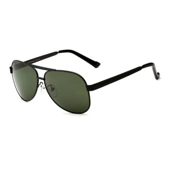 VEITHDIA 3152 Polarized Men Sunglasses Mirror Green Lense Vintage Sun Glasses Eyewear Accessories (Black) - Intl (Intl) Price Philippines