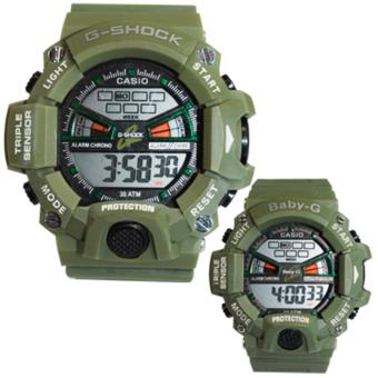 Casio Couple Sports Triple Sensor Watch (Moss Green) Price Philippines