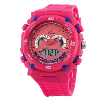 Harga UniSilver TIME Hexen Women's Fuchsia/Blue/Pink Analog-Digital Rubber Watch KW2205-1012