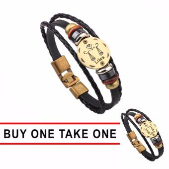 GMY Buy One Take One Men and Women Zodiac Sign Leather Bracelet (Libra) Price Philippines
