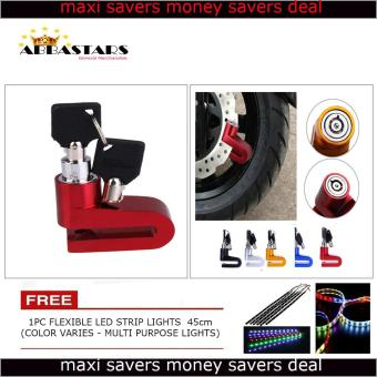 Harga Motorcycle / Bike Anti - Theft Disk Brake Lock Waterproof Wheel Red RotorLock Cylinder for Honda Beat 110