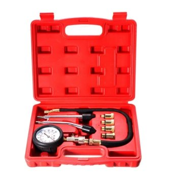 Harga Automotive Petrol Engine Compression Tester Test Kit Gauge Car Motorcycle Tool - intl