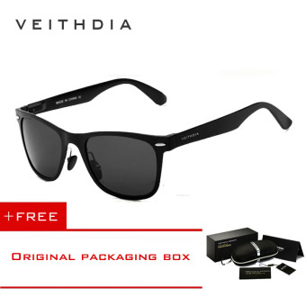 VEITHDIA Aluminum Men's Polarized Mirror Sun Glasses Male Driving Fishing Outdoor Eyewears Accessories Sunglasses For Men 2140(Black) [ Buy 1 Get 1 Freebie ] Price Philippines