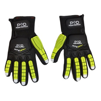 Power On Demand POD-Protech Medium Work Gloves (Black/Green) Price Philippines