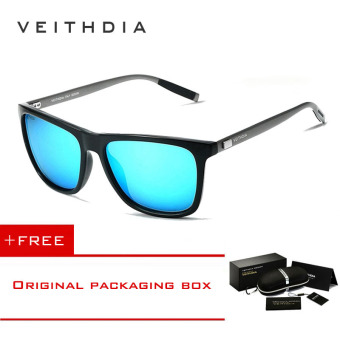 VEITHDIA Brand Unisex Retro Aluminum+TR90 Sunglasses Polarized Lens Vintage Eyewear Accessories Sun Glasses For Men/Women 6108 (blue) [ Buy 1 Get 1 Freebie ] Price Philippines