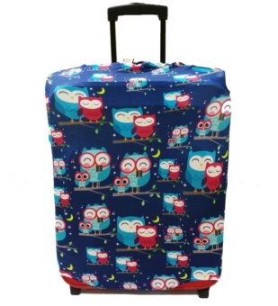 "Raffles Summer Fun Luggage Cover for 20"" Luggage (Blue Owls) Price Philippines"