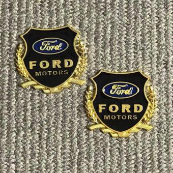 2pcs High Quality Golden Emblem Badge for Ford Cars Price Philippines