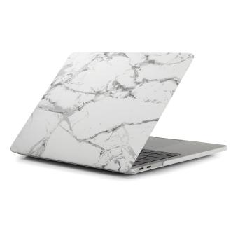 "Harga LYBALL Marble Plastic Rubberized Hard Folio Case Cover For MacBook Air 13.3""(A1466&A1369) Black Gold White - intl"