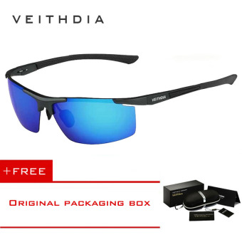 VEITHDIA Aluminum Magnesium Sunglasses Polarized Sports Mens Coating Male Eyewear Accessories 6588 (Blue) [ Buy 1 Get 1 Freebie ] Price Philippines
