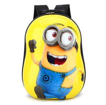 Hely TOP ABS Kids Baby Boy Schoolbag Waterproof Cute Cartoon Animal Eggshell Backpack (Minions) - Intl Price Philippines