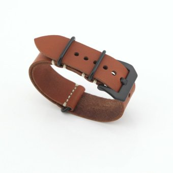 eMylo Leather Replacement Watch Band Strap Belt 22mm For Man or Woman (Coffee Color) Price Philippines
