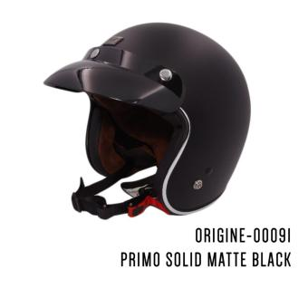 Harga ORIGINE 00091 Primo Red Solid Matte Black Open Face Helmet (2017 Collection) - MEDIUM