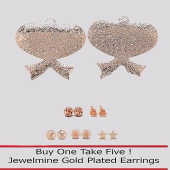 Jewelmine Peace 18k Gold Plated Earrings (Buy One Take Five) Price Philippines