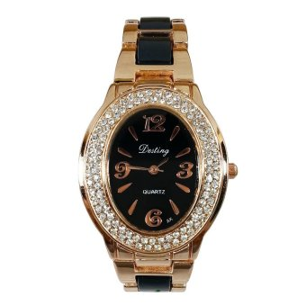Harga Destiny Radiant Women's Black/Gold Stainless Steel Watch
