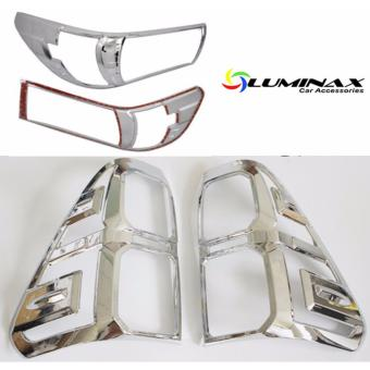 Harga Toyota Hilux Revo (2 Sets) Headlight and Tailight Cover Chrome Protector