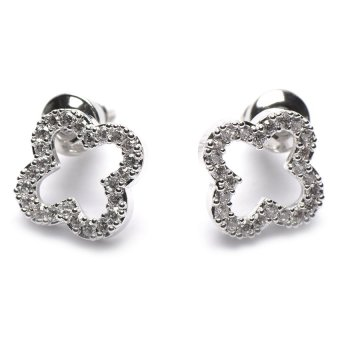 Athena & Co. Lucky Clover Earrings (Silver) Price Philippines