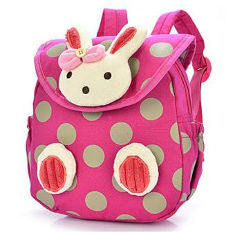 Baby Toddler Child Kid 3D Cartoon Backpack Schoolbag Shoulder Bags Rose Red - Intl Price Philippines