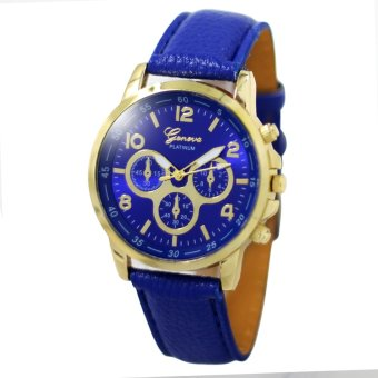 Harga Geneva Sophie Blue Leather Strap Watch