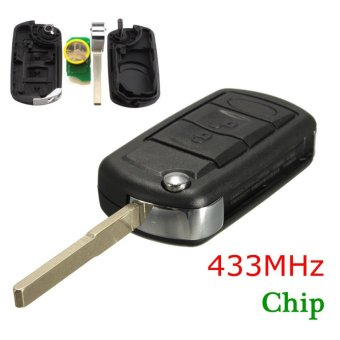 Harga OE Land Rover Full Key Fob Remote With Chip 433MHz YWX500160 Range Rover - intl