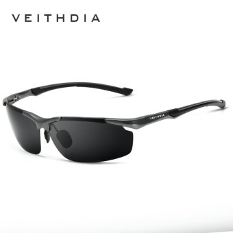 VEITHDIA Aluminum Magnesium Men's Sun Glasses Polarized Sports Driving Sun Glasses oculos Male Eyewear Sunglasses For Men 6592(Gun/Gray) - intl Price Philippines