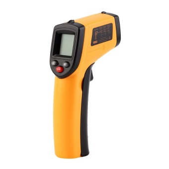 Infrared Thermometer -50~380?C 12:1 Handheld Non-contact Digital Infrared IR Thermometer Temperature Tester Pyrometer LCD Display with Backlight - intl - 2