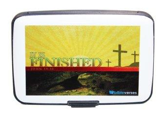 Inspire Bible Verses Card Holder John 19:30 (White)
