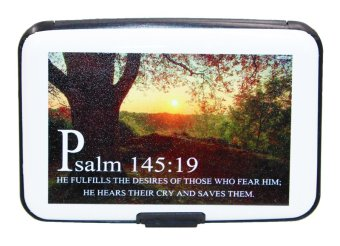 Inspire Bible Verses Card Holder Psalm 145:19 (White)