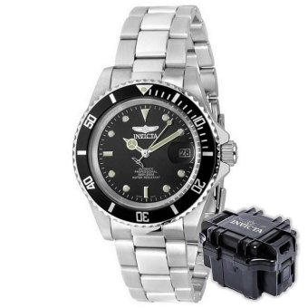 INVICTA Pro Diver Men 40mm Case Silver Stainless Steel Strap BlackDial Automatic Watch 8926OB w/ Impact Case B - intl Price Philippines