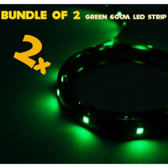 IP68 Rated 60cm (Green) WaterProof LED Strip Tape Light (Bundle of 2)