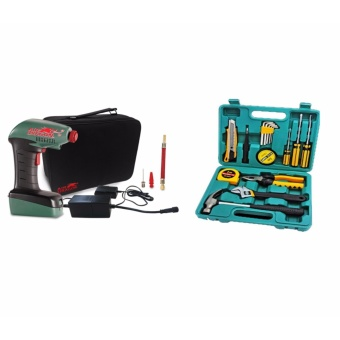 Philippines | J&J Air Dragon Portable Air Compressor With KS8016 Repairing16pcs Handy Tools Set The Best Cheap